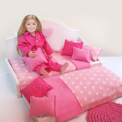 Girls   Trundle on Our Signature Daybed With Trundle For Sleepovers Is Bursting With Pink